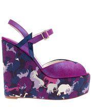 Purple Totem Lorenzo Wedge Sandals