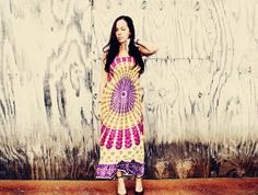Handmade Peacock Hippie Dress Long Bohemian Dress by Cloud9Jewels, $38.00