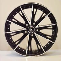 "RIM SIZE	: 18"" x 8"" RIM ET	: 38 RIM HOLE : 5 x 114.3 RIM HUB :   67.1 COLOR :    BLACK FACE POLISH PRICE :   95.67 $ EACH"