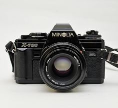 Vintage Minolta X-700 35mm Film SLR Camera with f/2.0 50mm Prime Lens by vtgwoo on Etsy