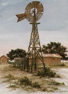 I love windmills. They were so much a part of the scenery of my life. TEXAS!