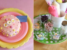 such a perfect idea for a little girls' party ~ a cake decorating birthday party via Glorious Treats