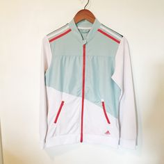 Adidas ClimaLite Track Jacket Excellent condition. Small pen mark on shoulder. No trades. No modeling. Adidas Tops Sweatshirts & Hoodies