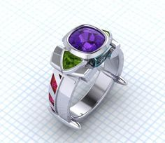 Buzz Lightyear Ring, To Infinity and Beyond Jewelry, Toy Story Ring, Space Jewelry Amethyst Ring Custom Space Ring, Disney Themed Jewelry