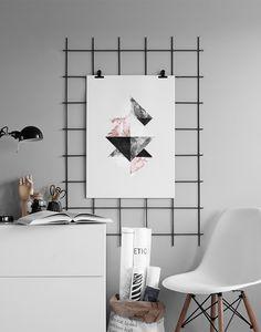 Print gráficos en mármol gris y blanco. Elegantes print gráficos.