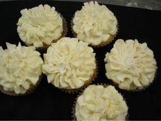 Pretty White Carnation Cupcakes