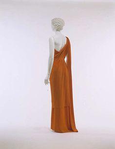 Dress (back), Evening  Madeleine Vionnet (French, Chilleurs-aux-Bois 1876–1975 Paris)  Date: ca. 1936 Culture: French Medium: silk