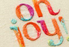 embroidered Oh Joy logo by Maricor/Maricar