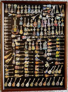 I collect Hard Rock guitar pins... this is NOT my collection but close!