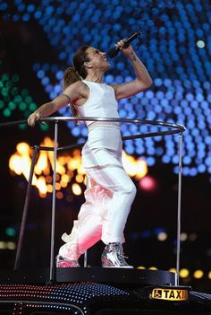 Sporty Spice at the London Olympics 2012 Closing Ceremony