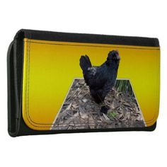 Black Chicken Pop Out_Large Leather Ladies Wallet - accessories accessory gift idea stylish unique custom
