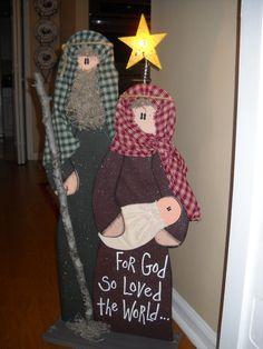 Wooden Nativity, Christmas Crafts @Barbara Acosta Acosta Acosta Blacconeri