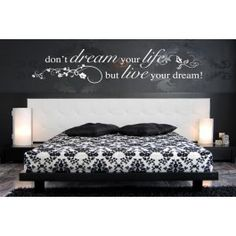 Dreams Come True Quote Removable Vinyl Decal Wall Sticker Home - Wall decals above bed