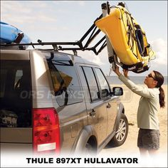 You can load your kayak by yourself  with the Thule 897XT Hullavator Kayak Rack w/ Side-Loading Lift Assistance.