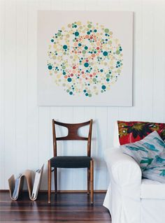 pillow patterns and painting combo         styled by geraldine munoz.