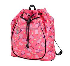 Check out our Pink Sydney Love Ladies Serve It Up Tennis Backpack! Find the best tennis gear and accessories at Lori's Golf Shoppe. Click through now to see this Tennis Backpack!