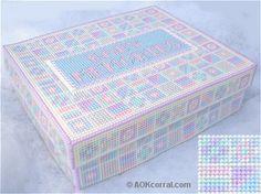 Baby Keepsake Box for Plastic Canvas