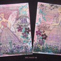 Mixed media fairy canvases #fairy art #bexmademe #mixedmedia Fairy Art, Medium Art, Canvases, Mixed Media Art, Gallery, Artist, Canvas, Mixed Media, Amen