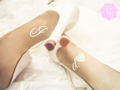 Check out this item in my Etsy shop https://www.etsy.com/uk/listing/258076630/wedding-shoes-decal-i-do-diamond-heart