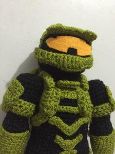 Xbox Crochet Pattern : Halo, master chief, mark IV, XBOX, amigurumi, crochet ...