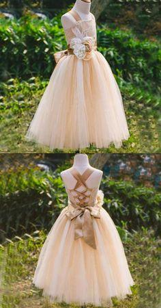 e8f93f620b07 Dusty Pink Satin Tulle Zip Up Flower Girl Dresses