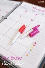 Dry Erase Calendar – Home Made By Carmona – Dry Erase Calendar İdeas. Do It Yourself Organization, Binder Organization, Organizing Ideas, Organising, Organizing Life, Classroom Organization, Blog Planner, Life Planner, Planner Diy
