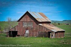 Old barn in South Dakota