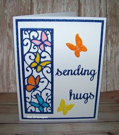 Ann Greenspan's Crafts: Butterflies in Flight:  Sending Hugs
