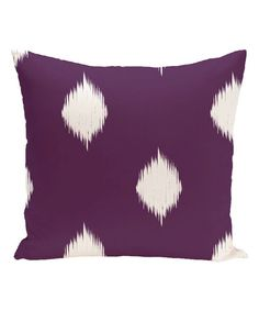 Purple Hol-I-kat Throw Pillow by E by Design #zulily #zulilyfinds