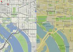 iOS版のiPhotoはOpen Street Mapを採用。
