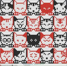 gaticos EN PUNTO DE CRUZ, Cross stitch patterns