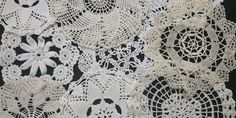 """5-7"""" Vintage Handmade Crochet Doilies Lot of 8, White and Shades of Beige Shades Of Beige, Table Toppers, Crochet Doilies, Vintage 70s, Sewing Projects, Unique Jewelry, Handmade Gifts, Etsy, Kid Craft Gifts"""