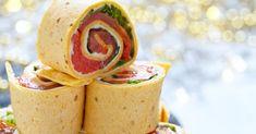 Recette de Mini wraps de tortilla au saumon fumé express à picorer. Facile et rapide à réaliser, goûteuse et diététique.