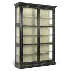 Vitrine i flot vintage stil SORT Mirrored Furniture, French Furniture, Luxury Furniture, Home Furniture, Black Display Cabinet, Display Cabinets, Chaise Baroque, Armoire Design, Design Fields