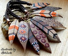 Polymer Clay Halskette Bib Halskette von HandmadeByAleksanta