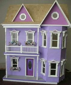 Purrfect purrple dollhouse