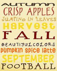 I think I will print this out and display it somewhere...seriously who doesn't love fall?!?