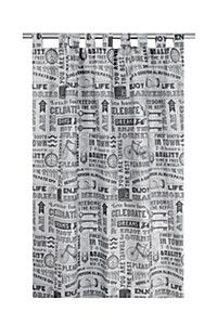TIME IS FREE 145X225CM TAB TOP CURTAIN #mrpyourhome