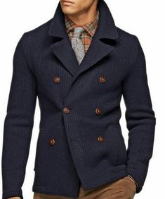 Blue coat for man