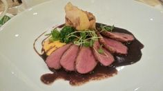 Aubergine's roasted honey and lavender glazed French duck breast