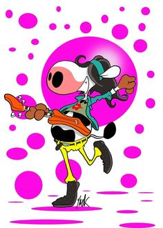"""""""Vache-guitarre"""" by Yack"""