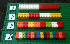 I love using legos to give my students a visual of how several rhythms are one beat but have different amounts of sounds. I find this really helps them understand the difference between quarter and paired eighths! It would be fun to have some legos in a c Learning Music Notes, Music Education, Learning Tools, Physical Education, Health Education, Preschool Music, Music Activities, Music Games, Music And Movement