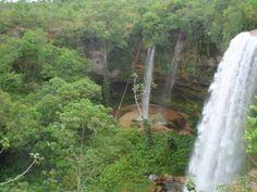 pontos turisticos de mato grosso: Encantadora Cachoeira do Rio e Aldeia Formoso em T...