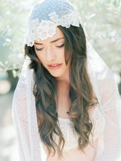 #Juliet Veil | Coco Tran Photography | On SMP -  http://www.StyleMePretty.com/california-weddings/2014/01/06/french-bridal-boudoir/