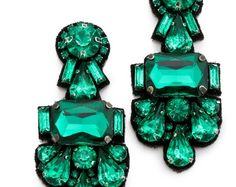 Emerald earrings from @Shopbop via @Glitter Guide