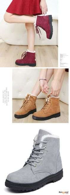 US$28.35 + Free shipping. Size(US): 5~12. Color: Yellow, Black, Red, Blue, Gray. Fall in love with casual and warm style! Boots Outfit, Boots Fall, Warm Fashion, Women's Fashion Casual, Women's shoes.