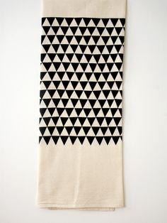 Triangles - Flour Sack Tea Towel - Organic Cotton - Dish Towel. $12.00, via Etsy.