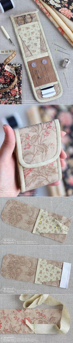 Cómo coser organizador de coser / Tiny tutorial kit de costura - veladas