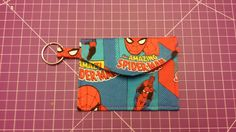 Pattern designed by AiviloCharlotte Designs. Pouch, Wallet, Chains For Men, Pattern Design, Spiderman, Coins, Coin Purses, Handmade, Accessories