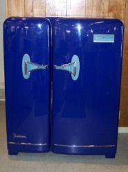 1950s antique refrigerator restored harley davidson mancave diva den refrigerators. Black Bedroom Furniture Sets. Home Design Ideas